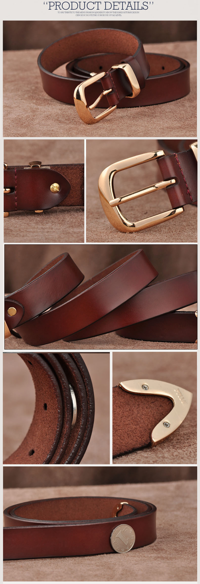 Free shipping Love strap Women genuine leather fashion all-match belt women's cowhide casual pants belt 16