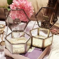 Golden Crown Glass Storage box Organizer Makeup Cosmetic small jewelry Display Decorative dressing table organizado Gift idea