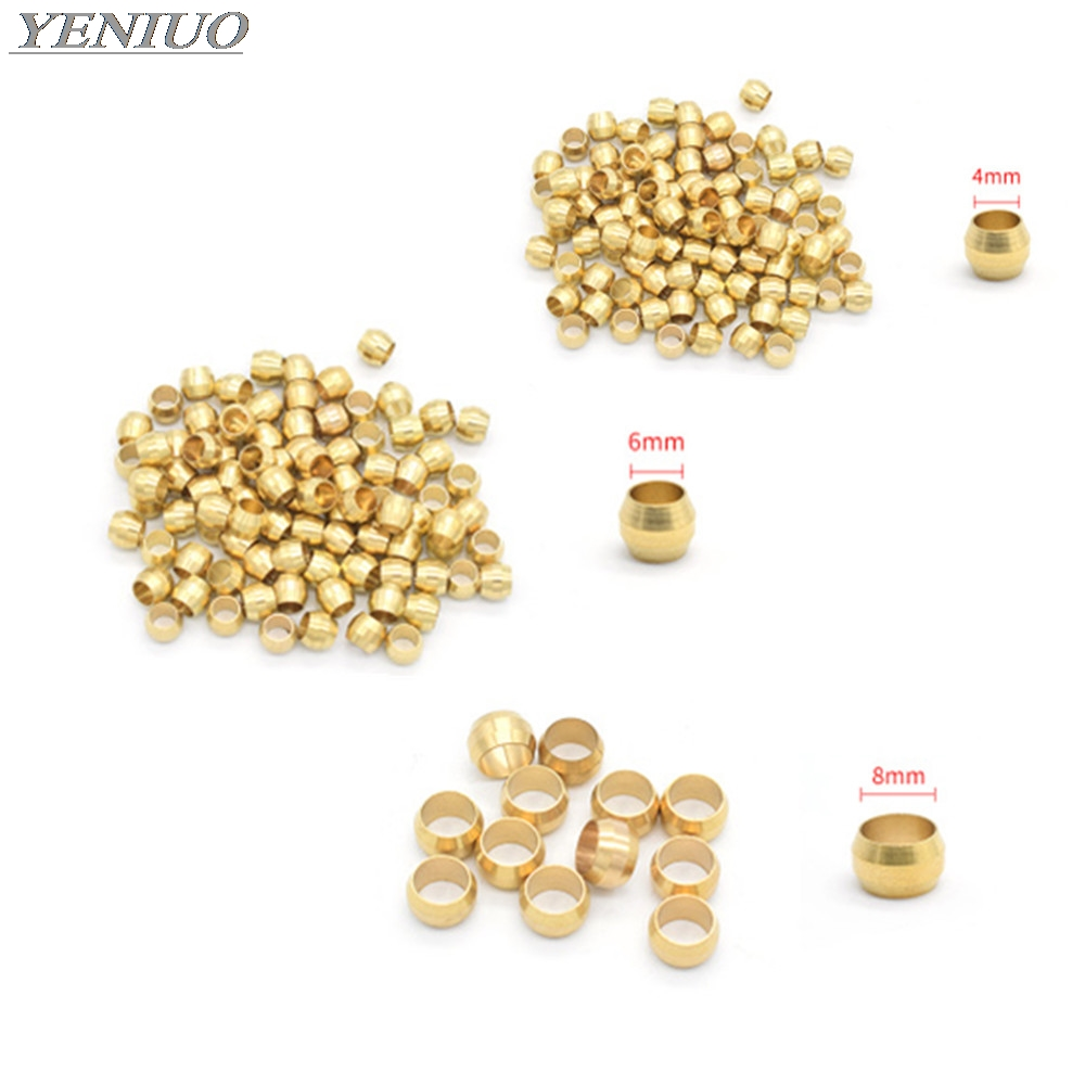 10pc Brass Double Taper Ferrule 4 6 8 10mm OD Compression Sleeve Seal Ring Fittings Tube Centralized Lubrication System