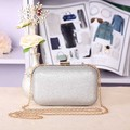 Designer silver evening clutch bags PU leather handbag vintage mini phone bags flash color shoulder messenger chain bags 8colors