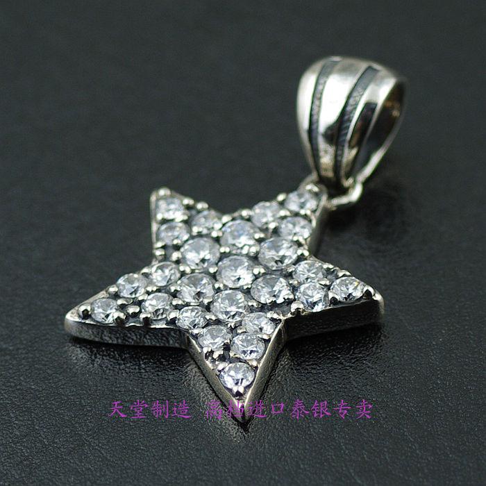 Thailand imports, JUSTIN DAVIS luxury full  Pentagram Silver Pendant