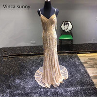 Robe De Soiree Diamond Evening Party Dress Real Photos Nude Color Tulle Champagne Gold Party Occasion