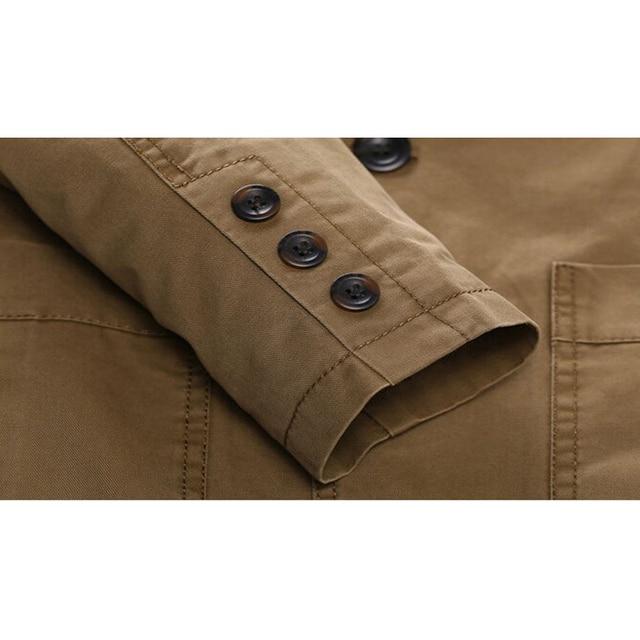 Brand New blazer men Casual Blazer Cotton Denim Parka Men's slim fit Jackets Army Green Khaki Large Size M -XXXXL