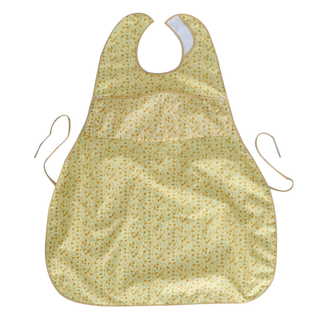 Washable Adult Reusable Eating Bibs Elderly Disability Aid Apron with Catch Pocket for Men Women Senior