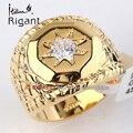 A1-r121 italina rigant moda 20mm ancho de banda de los hombres anillo del rhinestone 18kgp joyería tamaño 8-14