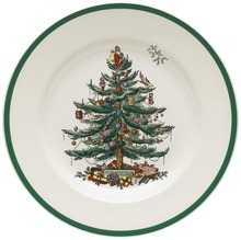 Set of 4 8 INCH Christmas Tree Ceramic Breakfast Plate Beef Dishes Dessert Dish Fruit Snack Simple Creative