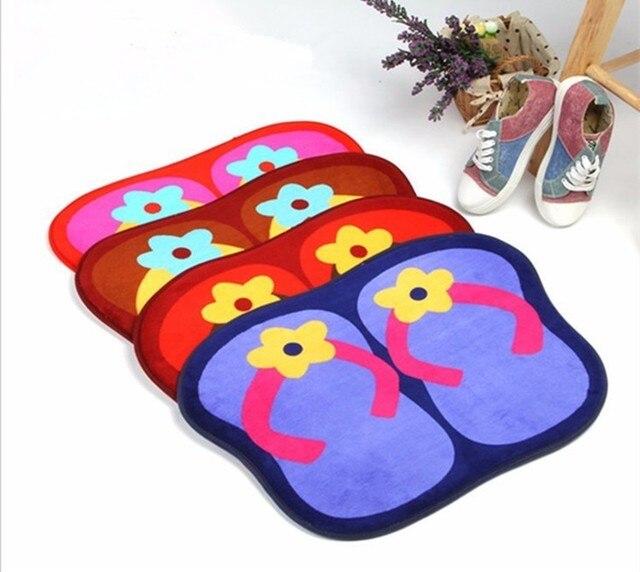 Flip Flop Floor Mats Bedroom Carpet Door Ground Bath Household Rug Living Room Home Textile Blanket