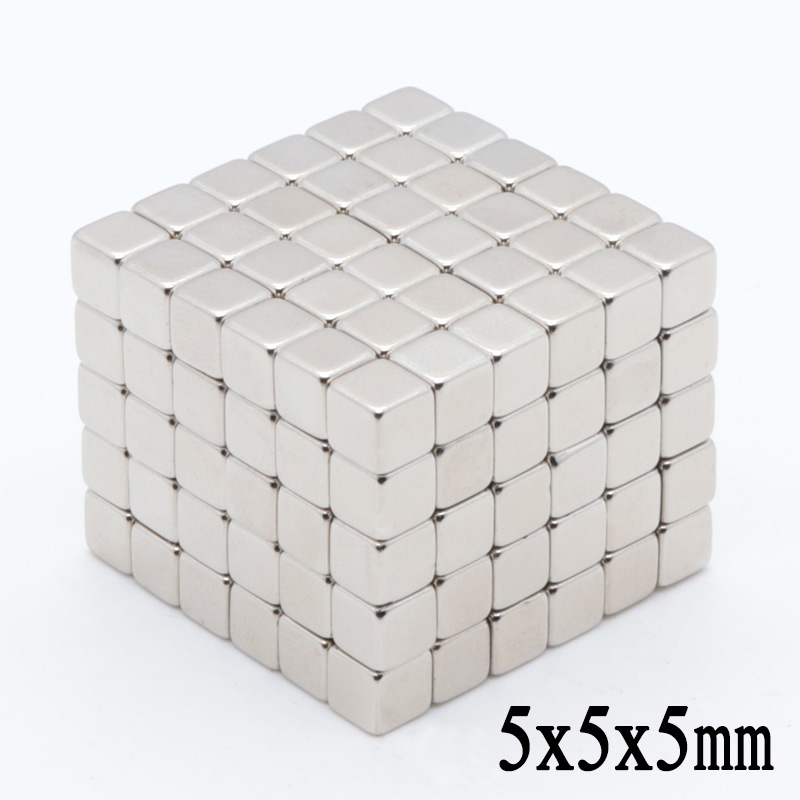 200pcs <font><b>Neodymium</b></font> <font><b>magnet</b></font> 5x5x5mm RareEarth small Strong block permanent 5*5*5mm fridge Electromagnet NdFeB nickle magnetic square image