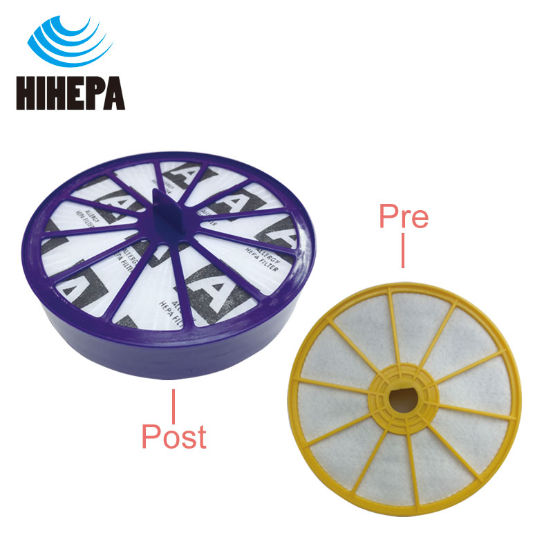 1set Replacement Vacuum Cleaner HEPA Filter Kit for Dyson DC07 Pre & Post ,upper & lower Motor Allergy Vacuum Cleaner parts cleaner front back hepa filter kit for dyson dc27 dc28 vacuum cleaner parts dyson vacuum pre post motor allergy filter hepa