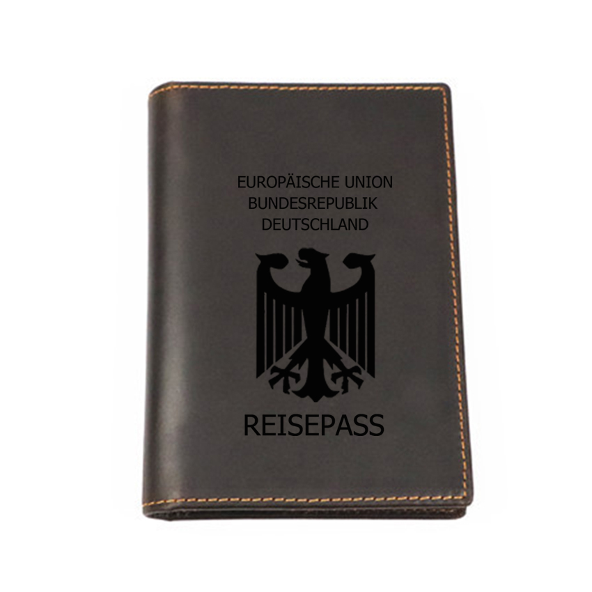 Germany Passport Cover Multi Functional Leather Cover Custom Name Passport Travel Wallet Genuine Leather Card ID
