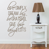 Live Simply Quotes Vinyl Sayings Wall Stickers Big Size Lettering Decal Poster Sofa Wall Decor Decorative