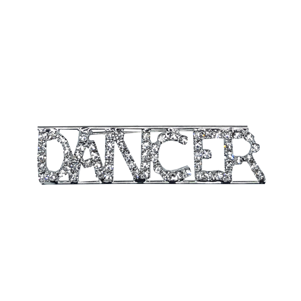 Custom Professions&Jobs Theme Crystal Lapel Pin DANCER Word Brooch Gift Wholesale 6PCS/LOT FREE SHIPPING