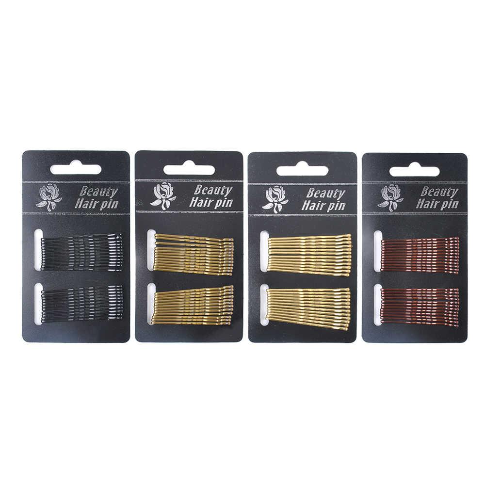 24 шт./компл. простая шпилька для волос 4,5 см шпильки Вьющиеся Волнистые шпильки для парикмахерские зажимы инструменты зажим для волос аксессуары для волос невидимые волосы