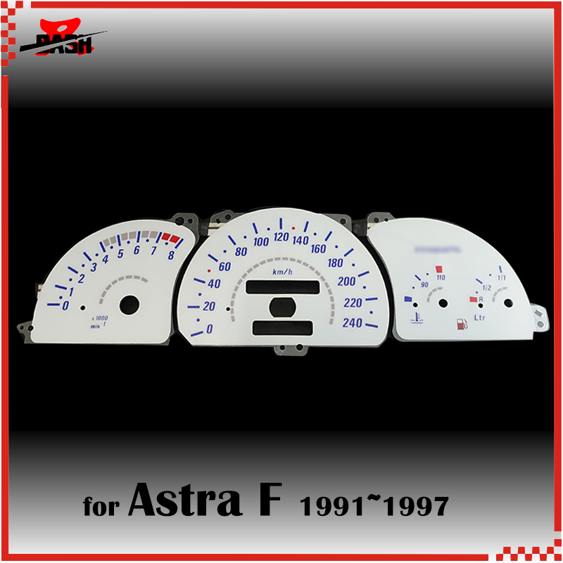 Racing Dash El Glow Gauge For Opel Astra F 1991 1997 Reverse White Panel Blue Light 1300261a Speedometers Aliexpress
