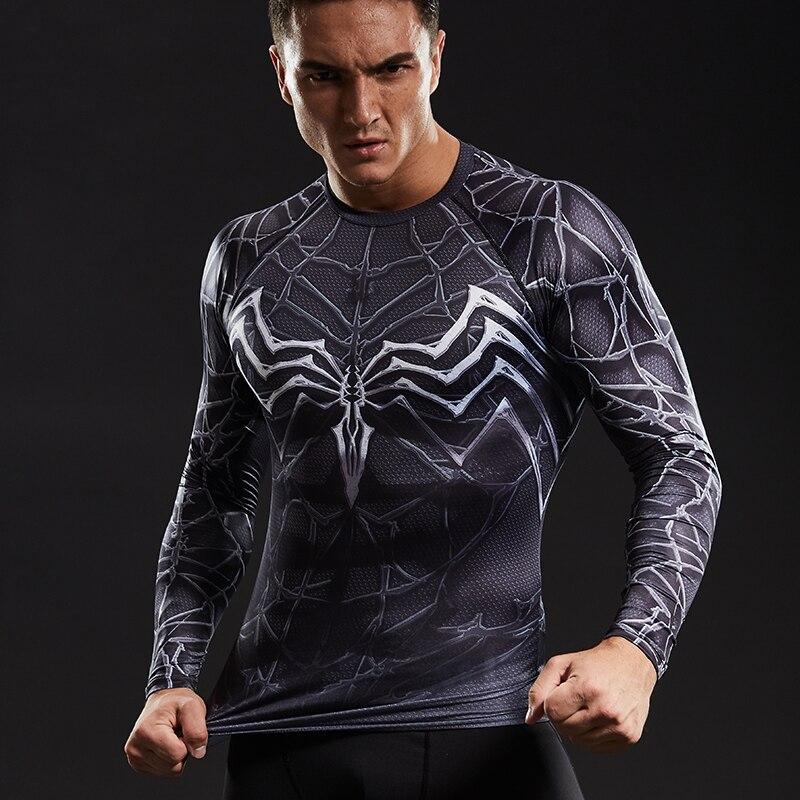 2018 Quick Dry Lauf Tees Männer Gedruckt T-shirts Kompression Shirt Tops Bodybuilding Fitness Oansatz Kurzarm Männlichen T Hemd Sportbekleidung T-shirts