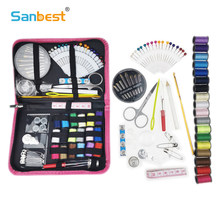87Pcs Portable Sewing Kit Travel Needles Tools Quilting Thread Stitch Craft Kits Life Essential Home Organizer Sewing Box New(China)