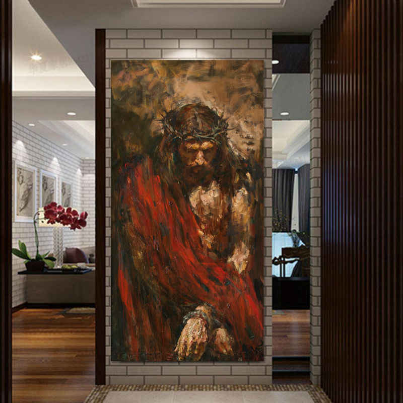 Ecce homo by Anatoly Shumkin HD Print Jesus Christ Oil Painting on canvas art print home decor canvas wall art painting picture