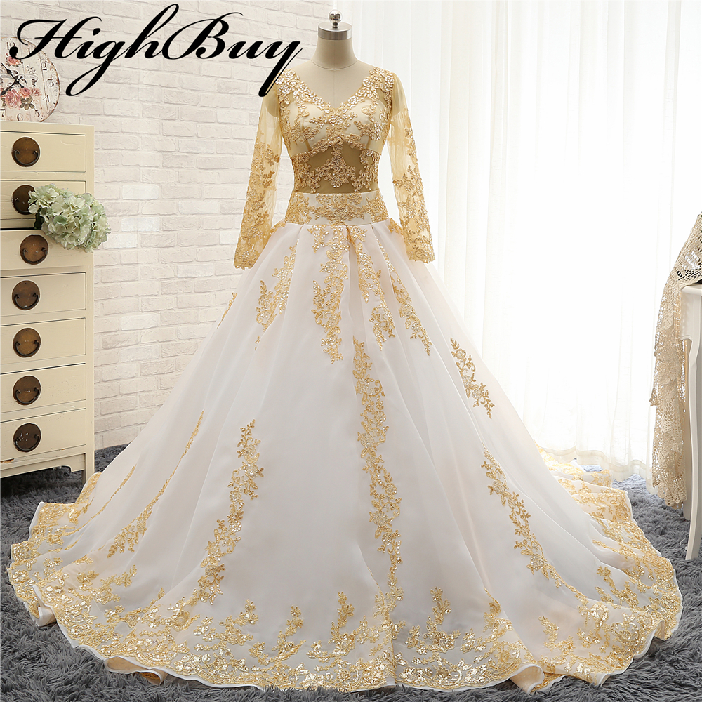Buy Highbuy 2017 Gold Lace Appliques