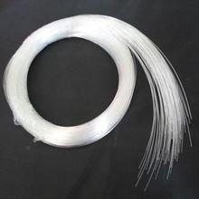 Gran oferta 50 ~ 500 Uds. X 0,5mm X 2 metros extremo resplandor PMMA cable de fibra óptica para luz de techo estrella envío gratis