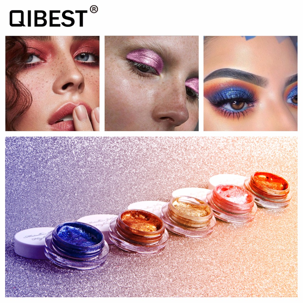 Hearty Miss Rose Colorful Shimmer Eyeshadow Palette Waterproof Sexy Red Pigment Powder Mermaid Glitter Eyeshadow Gold Blue Green Beauty & Health
