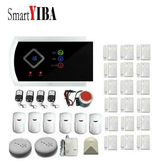 SmartYIBA Russian Spanish Italian French Voice Burglar Security System GSM SMS Wireless Anti-theft Alarm APP Remote Control