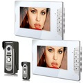 GZGMET 7 inch color video intercom doorbell DOORPHONE hands-free intercom doorbell  building security SET home system