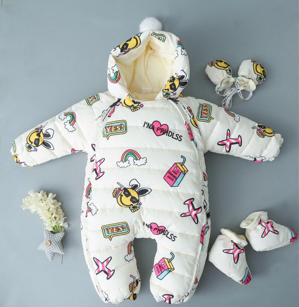Children Newborn Winter Rompers Duck Down Jumpsuit Kids Boy Girl Clothing Baby Clothes Snow Wear Thicken Warm Overalls