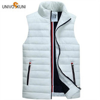 UNIVOS KUNI Men S Sleeveless Vest Homme Winter Casual Coats Male Cotton Padded Thickening Vest Men