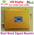 Lintratek Gain 65dB signal amplifier 850Mhz 1800Mhz cellphone signal booster CDMA DCS Dual Band repeater with Lcd dislpay