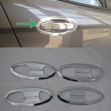 цена на Car Accessories Exterior Decoration ABS Chrome Side Door Handle Bowl Cover Trim For Ford Ecosport 2013 Car-styling