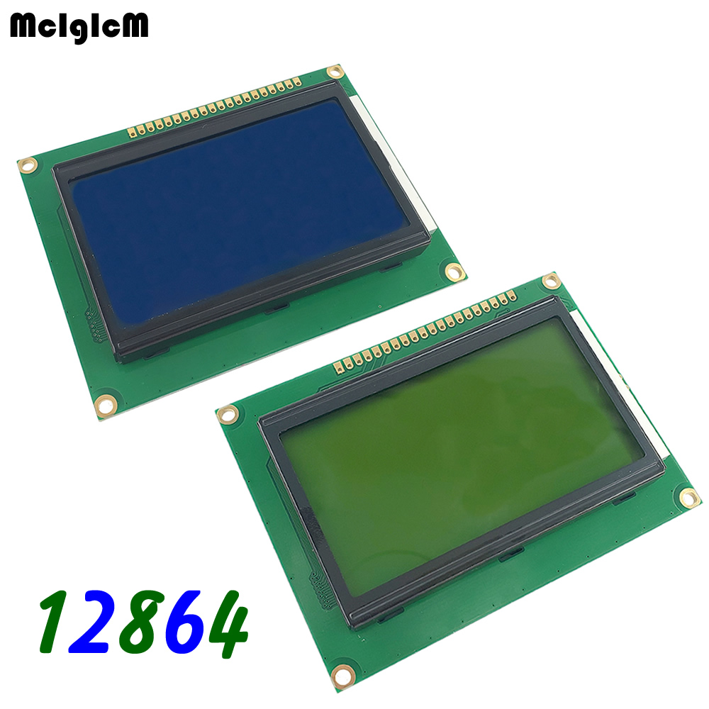 1pcs 12864 128x64 Dots Graphic Blue / Yellow Green Color Backlight LCD Display Module LCD12864