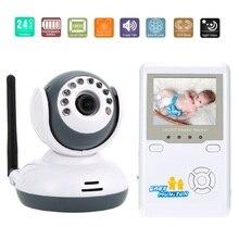 2.4 дюймов ЖК-монитор младенца с камерой Ночного Видения 2 способ Говорить Колыбельные Увеличить 4 Каналы Аккумуляторная Батарея аудио baby monitor
