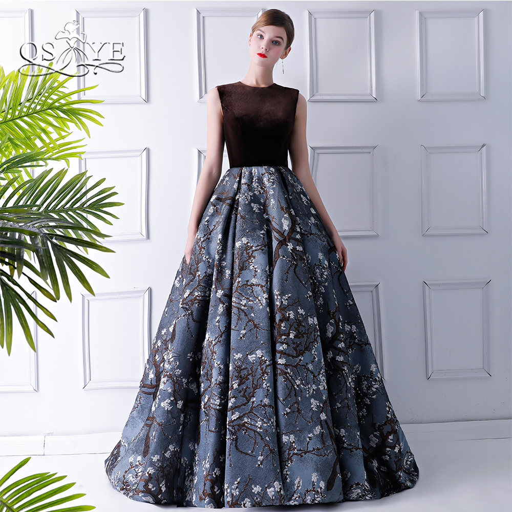 QSYYE 2018 New Vintage Formal Evening Dresses Ball Gown Sleeveless Long Prom Dresses Women Party Gown Custom Made