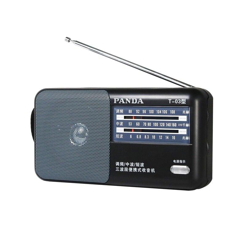 Design; In Initiative Panda/t-03 Fm Radio Volle Band Alte Mann Tragbare Mini Außerhalb Setzen Pointer Schreibtisch Semiconductor Novel