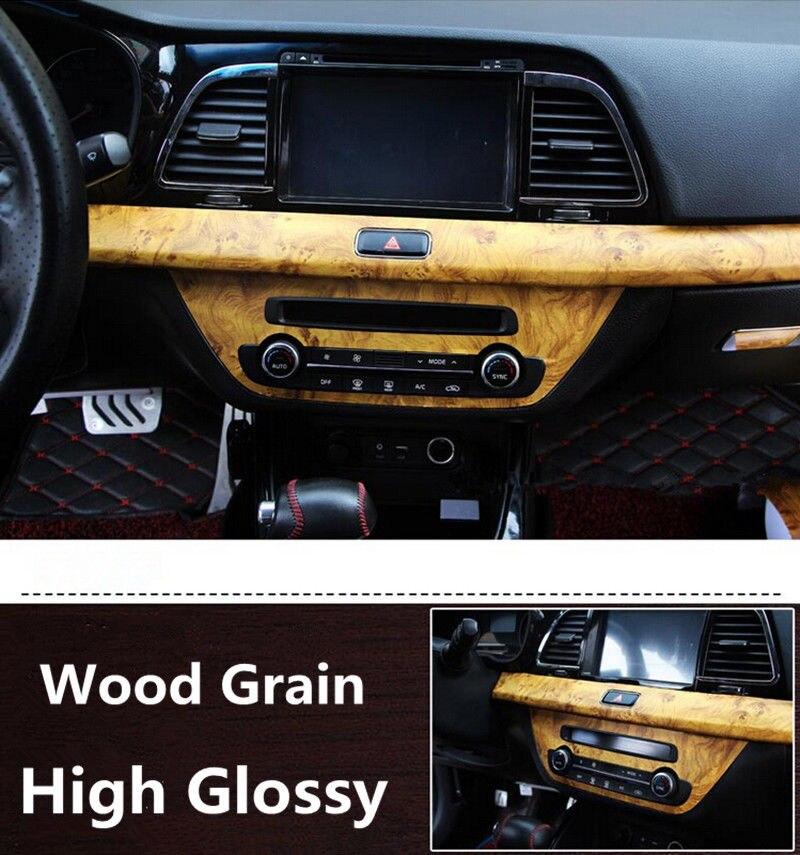 Feuille de Film de vinyle de Grain de bois auto-adhésif 1.24x5 m/roll