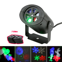 Moving Snowflake Projector Lumiere lamp Stage led christmas decoration lights for halloween DJ KTV Bar Party Garden