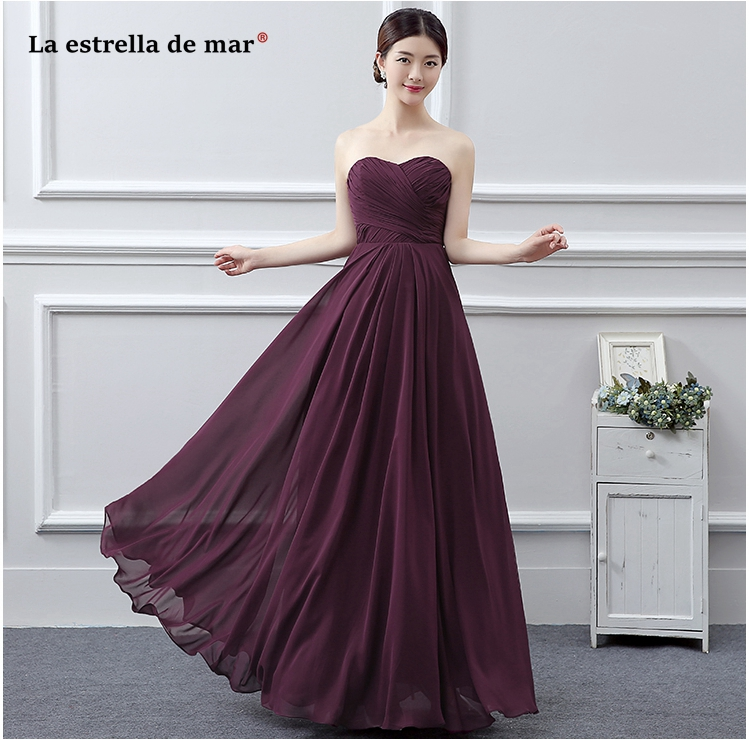 La estrella de mar robe demoiselle d'honneur hot sexy sweetheart A Line fuchsia   bridesmaid     dresses   long under $30 wedding guest