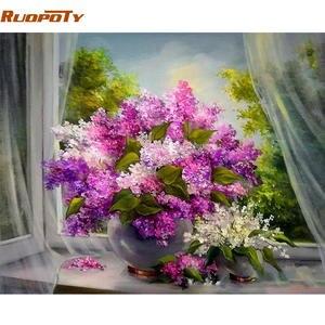 Top 10 purple wall paint flowers list ruopoty frame purple flowers diy modern wall art picture mightylinksfo