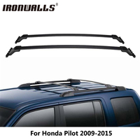 Ironwalls Black Car Roof Rack Cross Bars Cargo Luggage Carrier 45KG 100LBS For Honda Pilot 2009