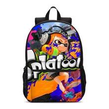 d8c31cb9c6a VEEVANV Brand Design Canvas Rugzakken Voor Meisjes Jongens Fashion Anime Cartoon  Game Splatoon 2 Prints Bag
