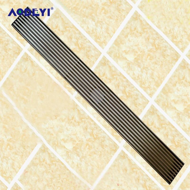 AODEYI Long Drain 304 Stainless Steel 60cm Linear Anti-Odor Floor Drain Bathroom Hardware Invisible Shower Floor Drain 11-202
