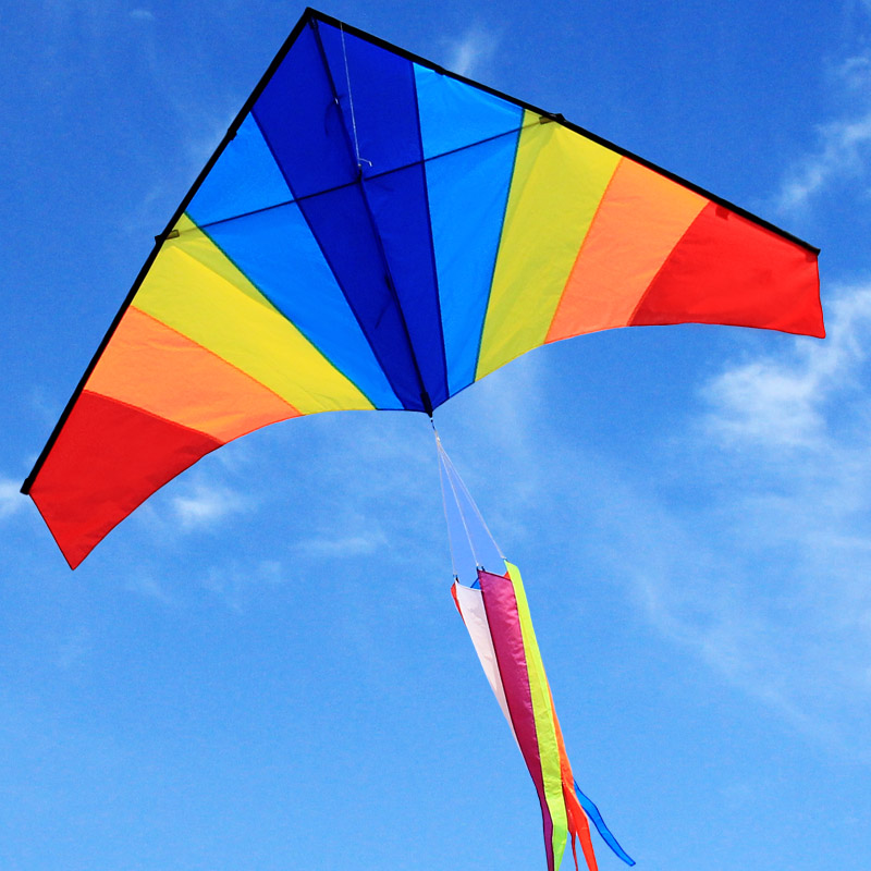 Hot Sale Kite Nylon Kites Rainbow Triangle Parafoil Cometas Parapente Cerf Volant Pipa Voadora Vlieger Kite Flying Barriletes