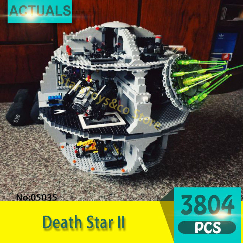 Lepin 05035 3804Pcs  Death Star II Model Building Blocks Set Bricks Toys For Children Gift Star Series Wars 10188 lepin 05035 star wars death star limited edition model building kit millenniums blocks puzzle compatible legoed 75159
