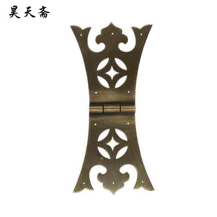 [Haotian vegetarian] antique copper hinge / hinge / Chinese decoration accessories HTF-020 [haotian vegetarian] chinese antique door hinge copper hinge htf 108 paragraph three flowers