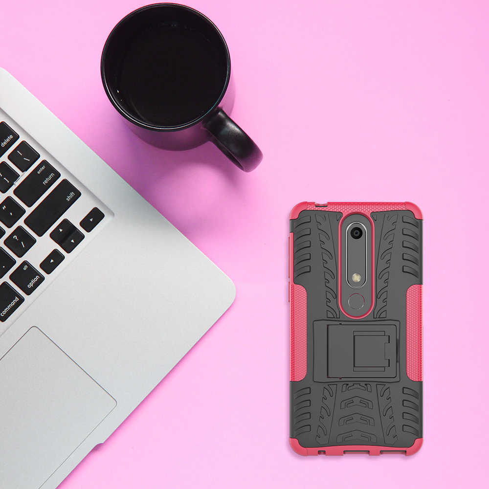 Untuk Nokia 1 2 3 5 6 8 6.1 2018 Case 360 Full Protection TPU + PC Armor Silikon Kasus back Cover Coque Etui Funda