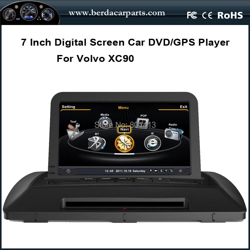 car dvd gps player for volvo xc90 with gps radio bluetooth. Black Bedroom Furniture Sets. Home Design Ideas
