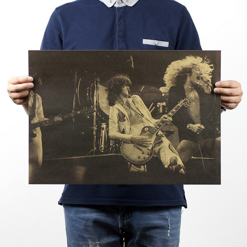 Free shipping,Led Zeppelin(b style) Rock Band /classic nostalgic/Cafe/bar poster/ Retro Poster/decorative painting 51x35.5cm