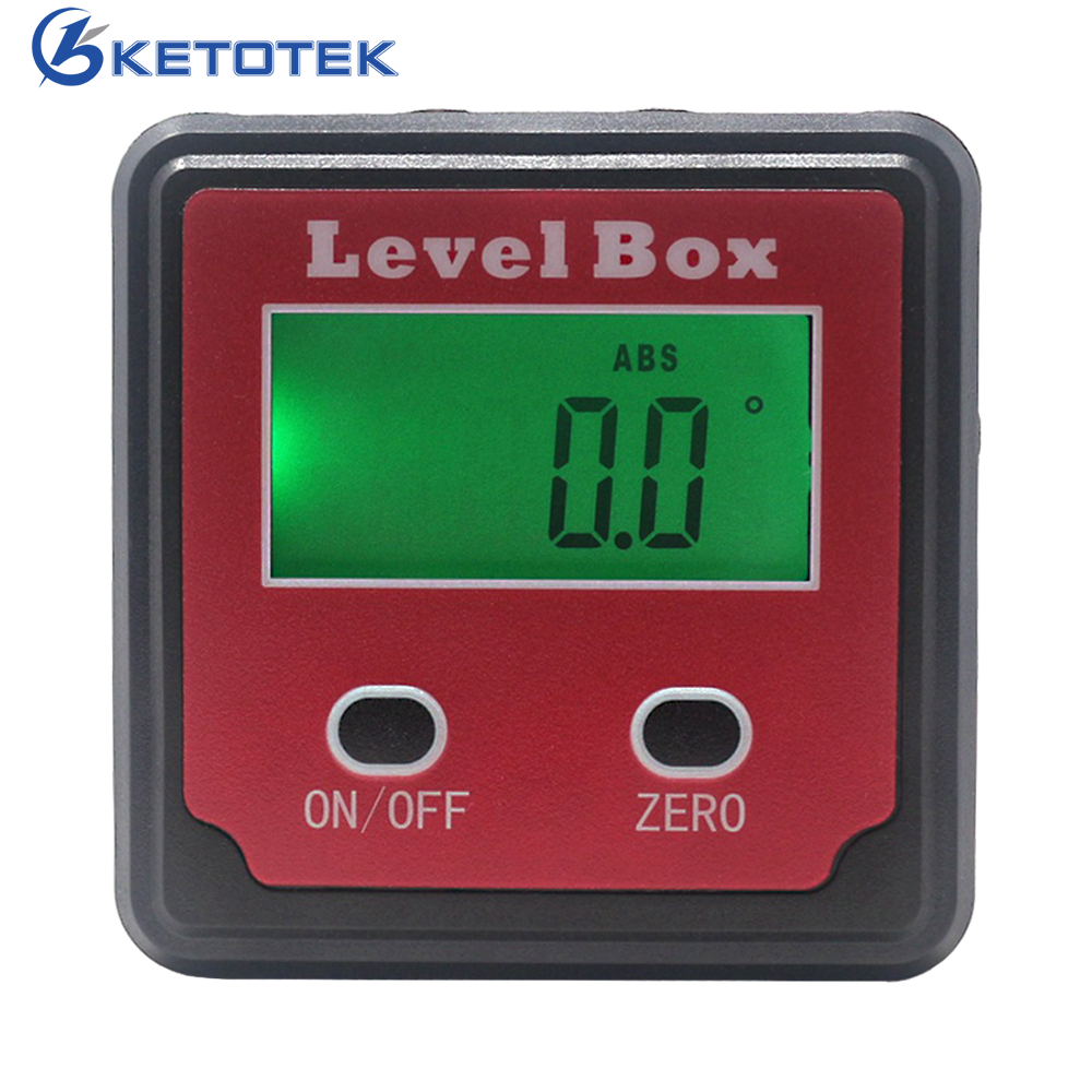 360 degree digital angle finder meter inclinometer spirit level protractor data hold bubble level gauge 4x90 Degree Digital Inclinometer Level Box Protractor Angle Gauge Meter Bevel Box Angle Finder