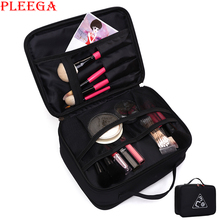 New professional makeup carrying case Women cosmetic makeup bag Double layer travel Cosmetic bag make up