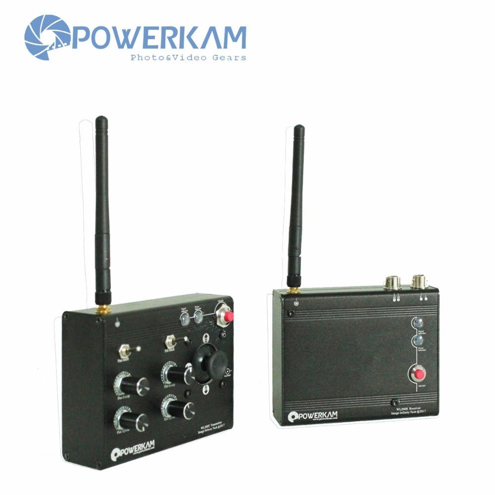 POWERKAM WL200 2.4G bezdrátový ovladač naklápění pro motory 12V - Videokamery a fotoaparáty